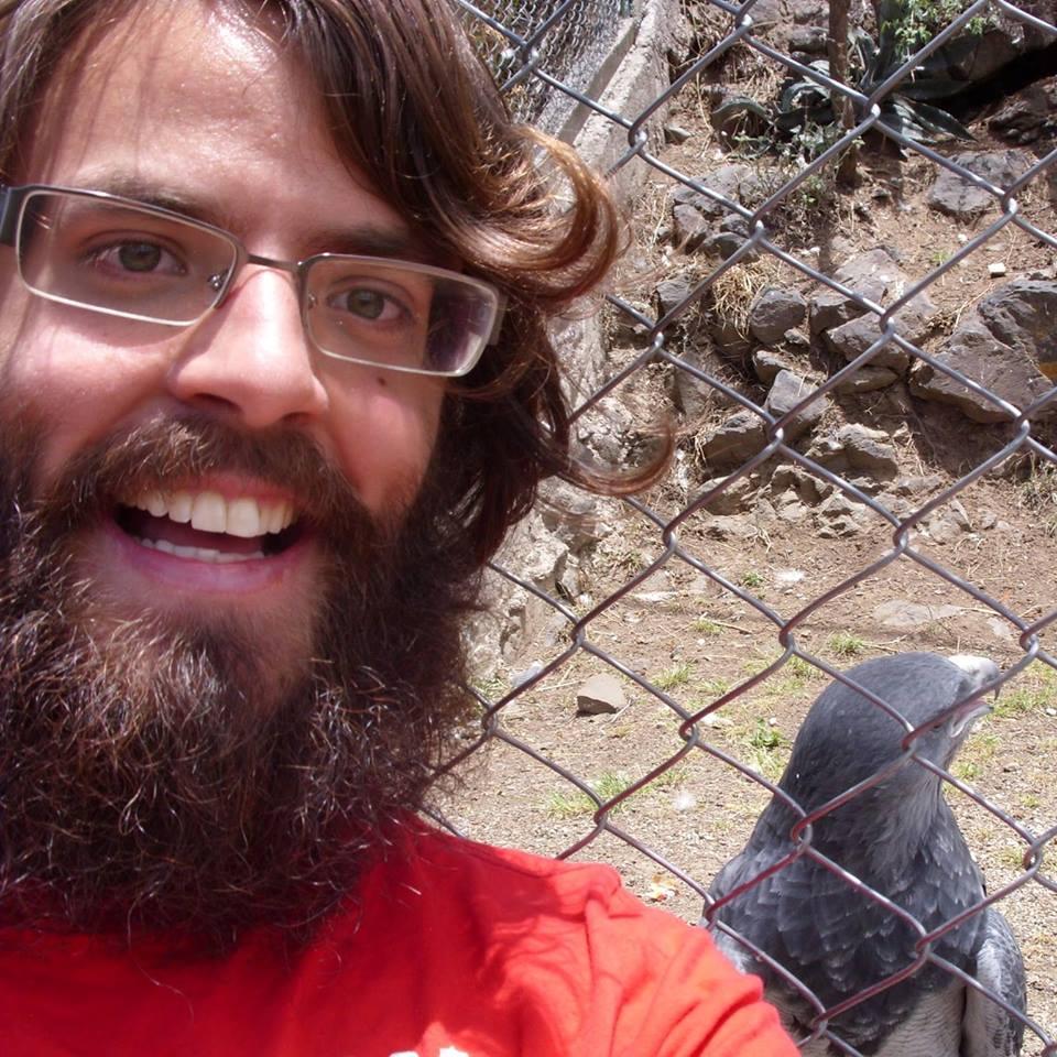 selfie avec oiseau