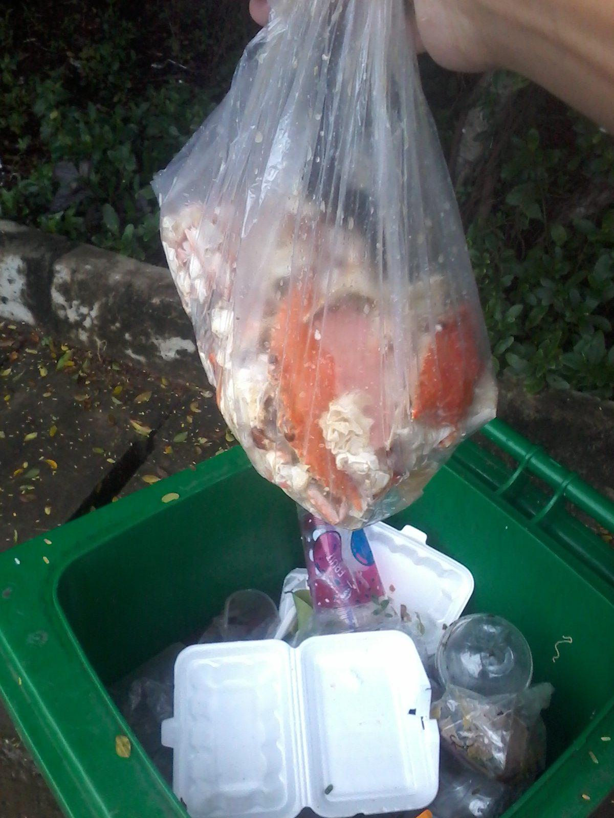 Poubelle marché aux crabes