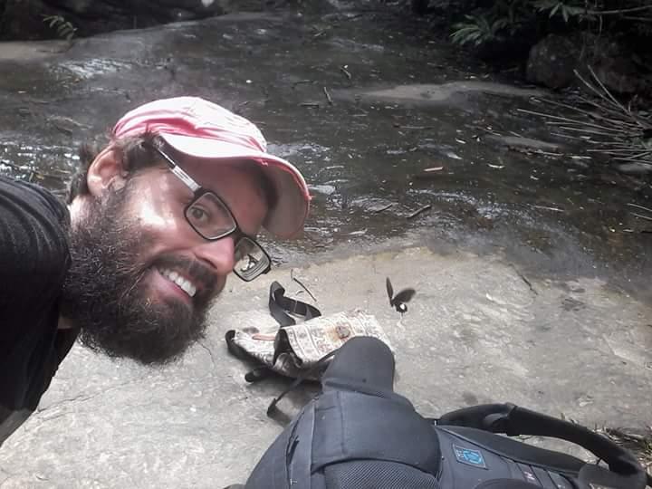 Selfie durant trekking