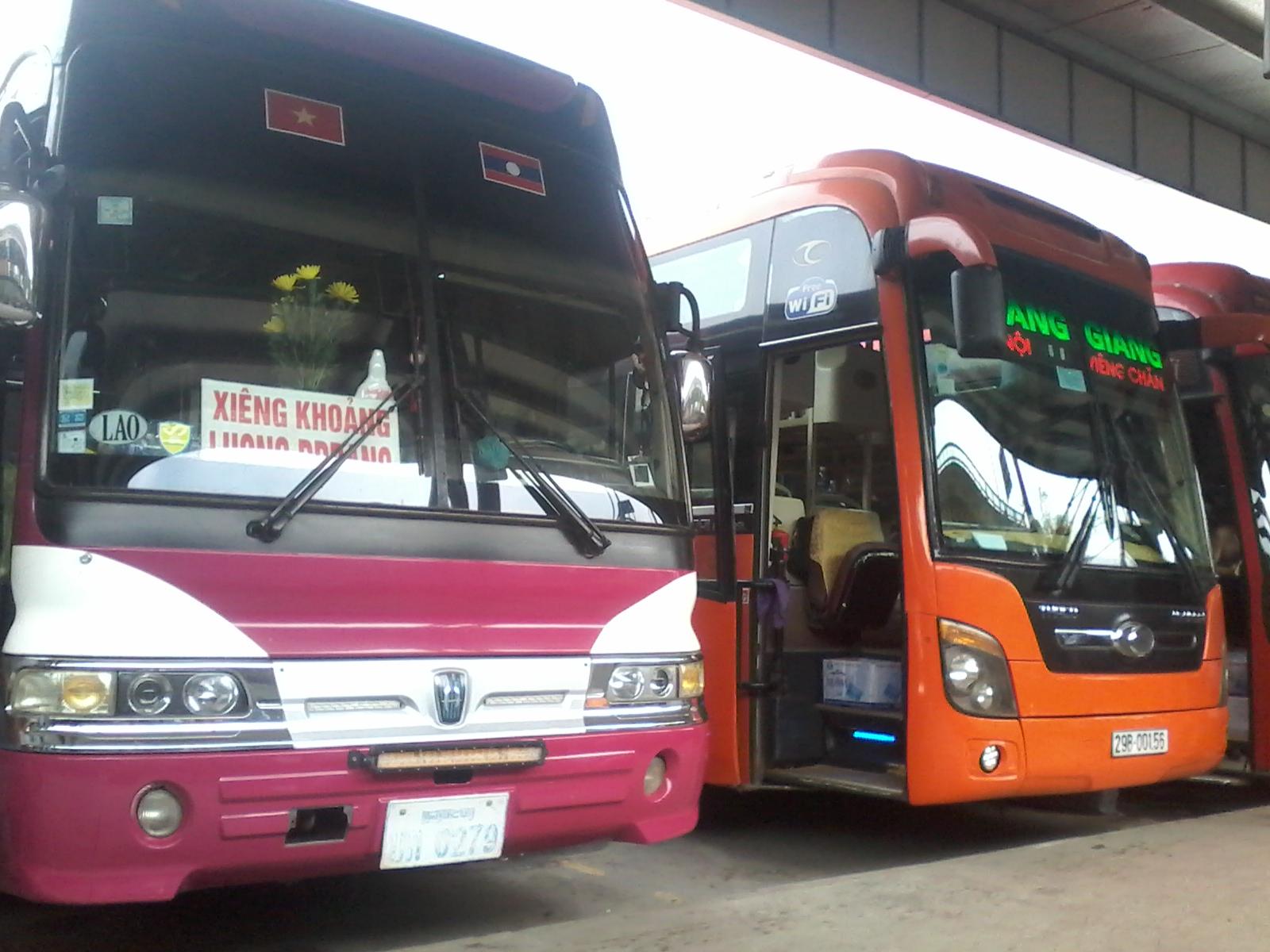 Bus hanoi luang prabang