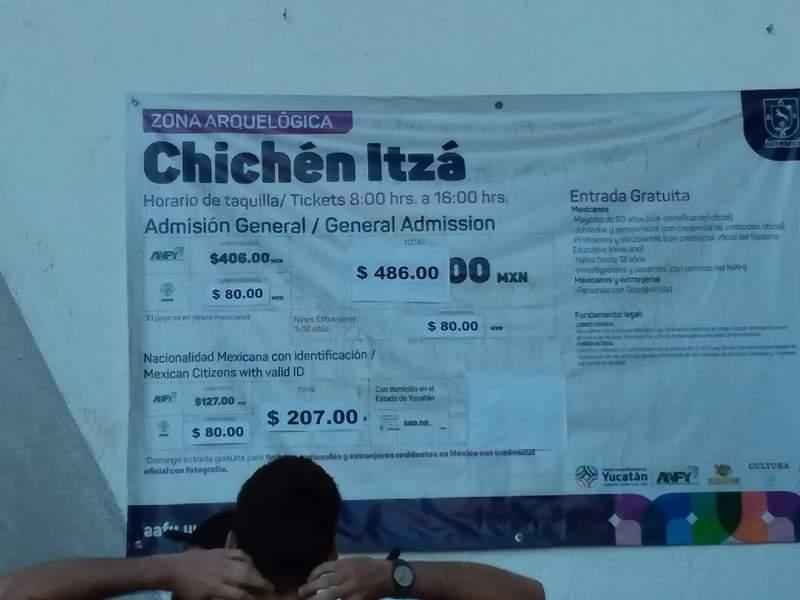 Prix accès au site chichen itza