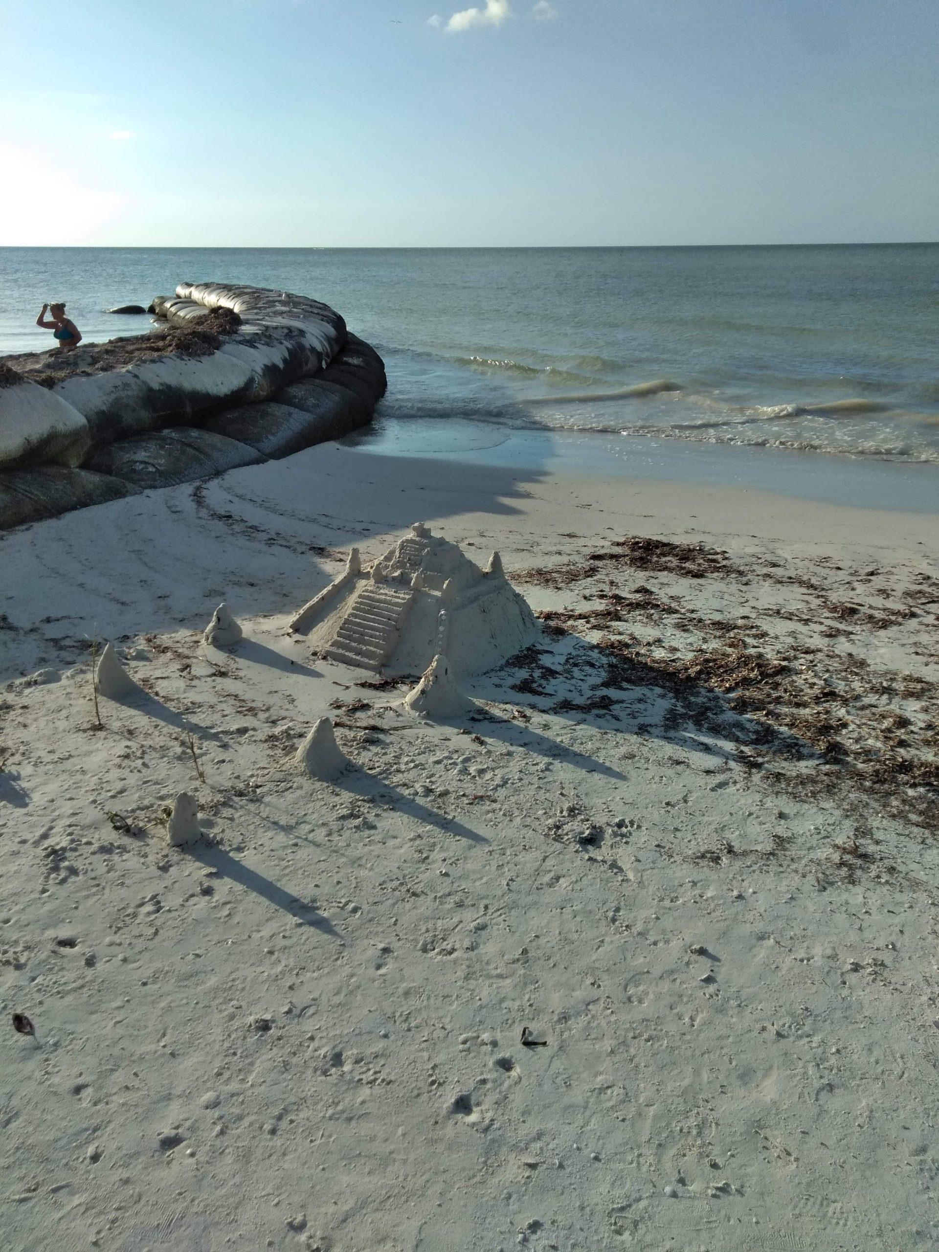 Construction de sable holbox