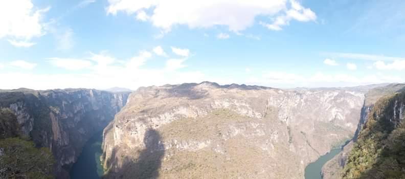 Panorama canyon de sumidero