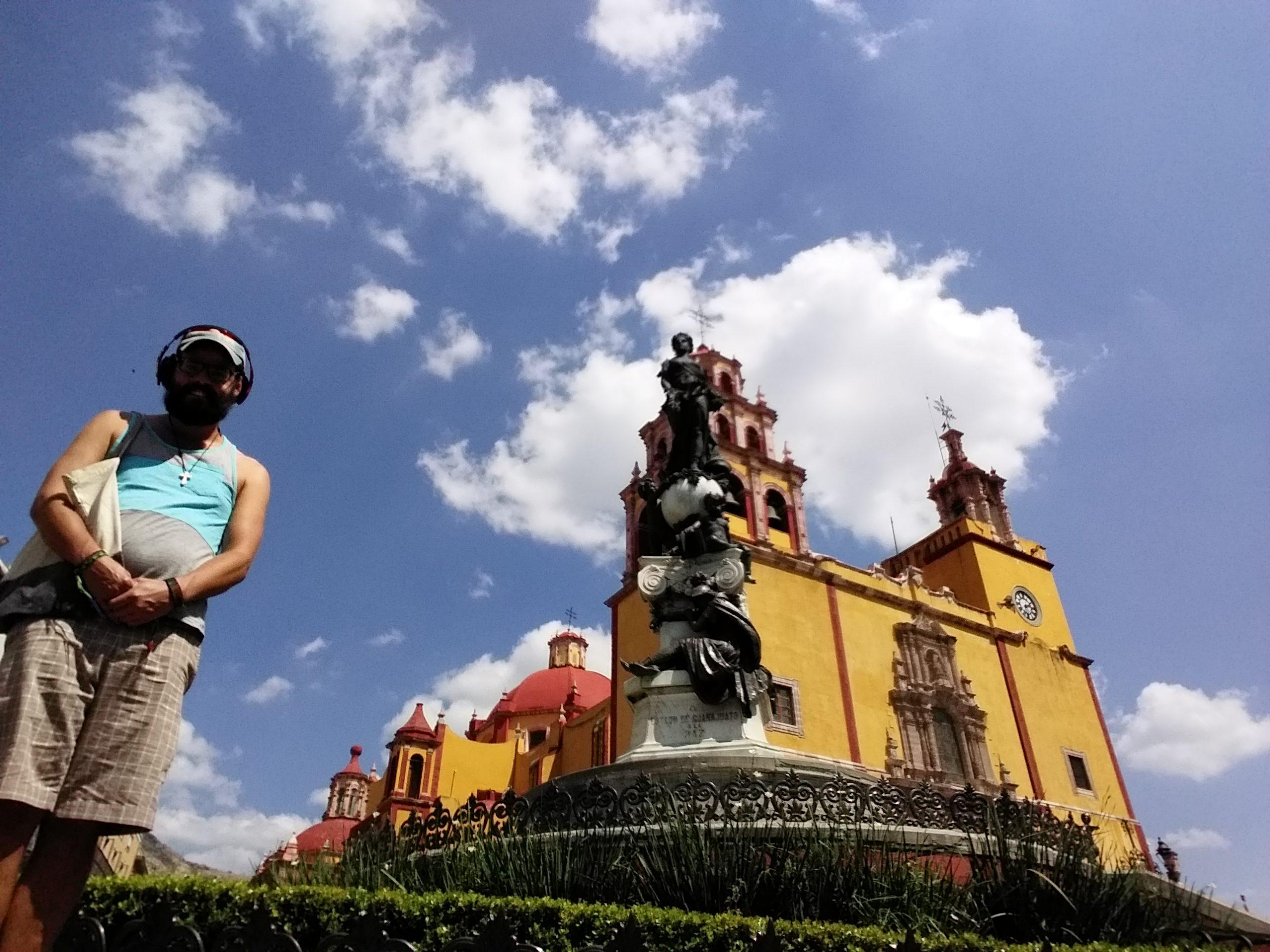 Moi et le centre historique de Guanajuato