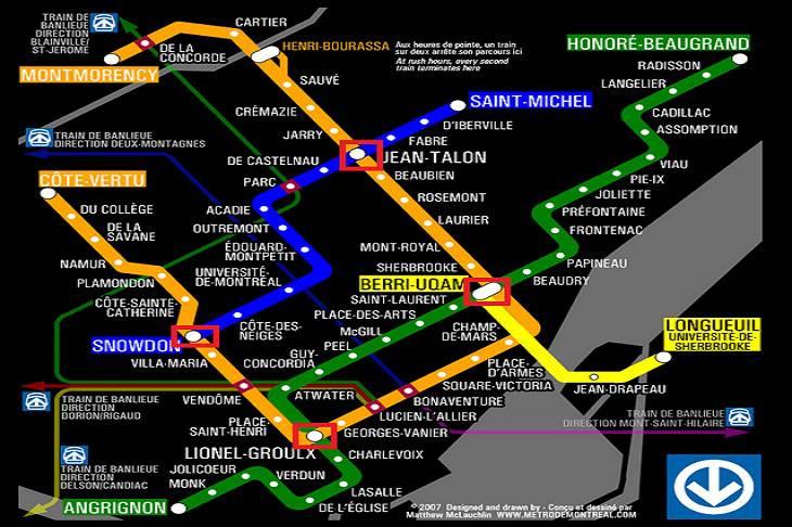 Stations de métro montréal