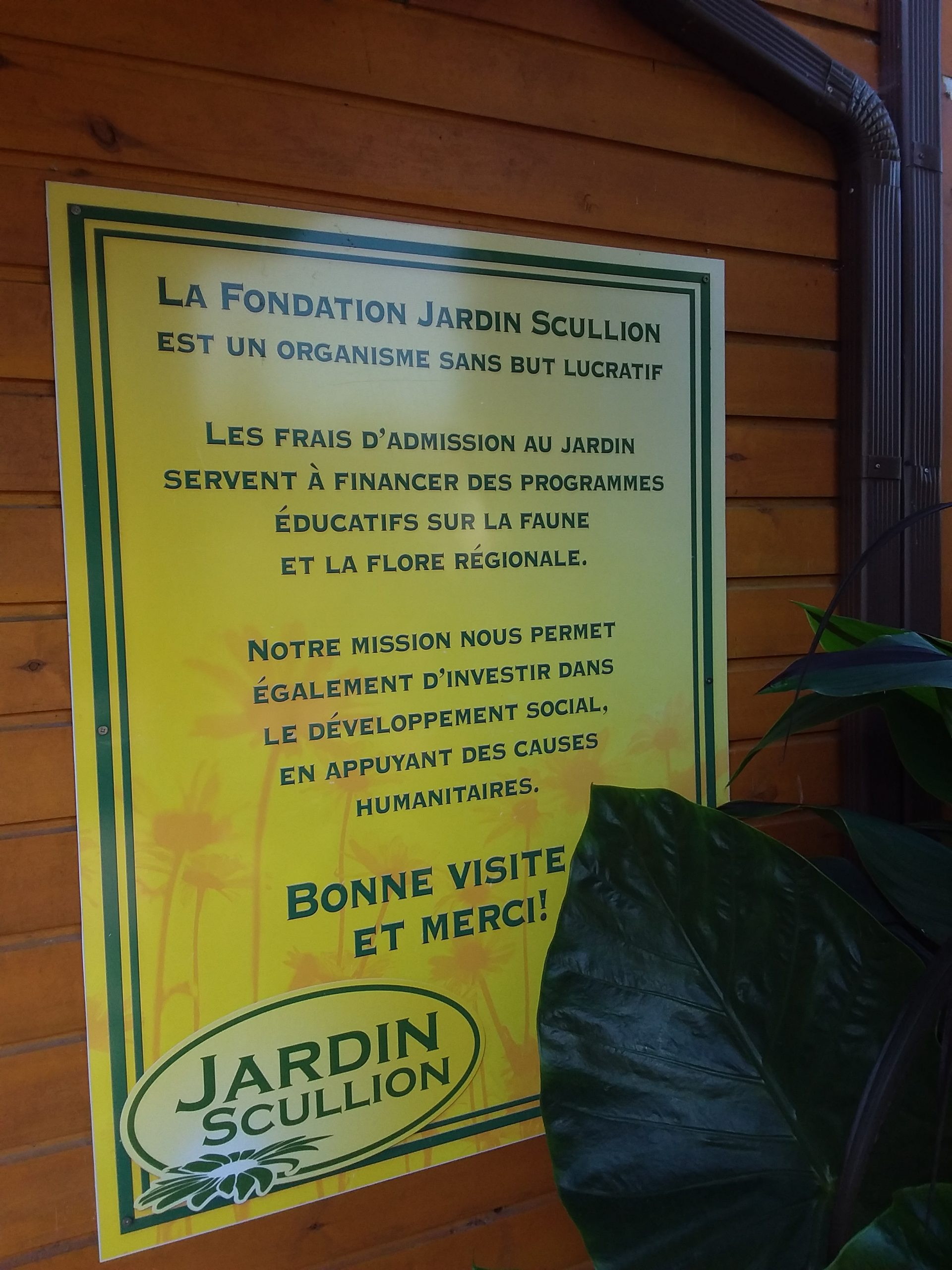 Fondation jardin scullion
